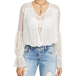 Free People Far Away Lace top boho peasant style